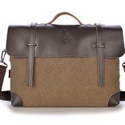 3e7390a1c949 ... Fansela(TM) Mens Vintage Business Canvas Laptop Messenger Bag Handbag  Brown