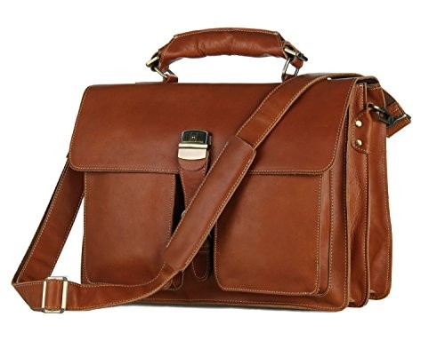 Messenger Bag Mens Crossbody Retro Leather Tote Shoulder Briefcase