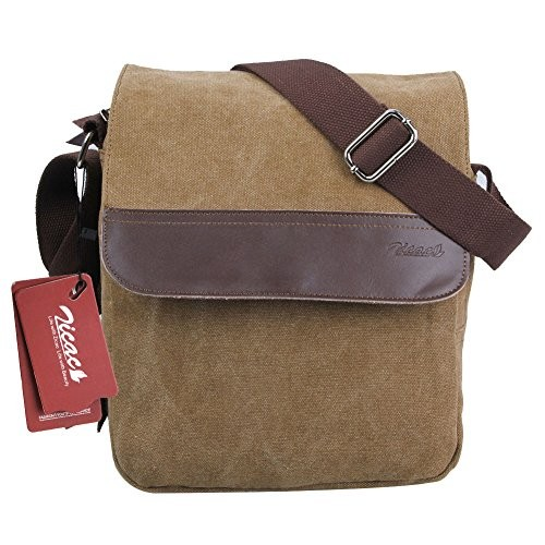 Zicac Mens Canvas Messenger Shoulder Bag Handbags Black and Brown Color  (Brown) · desc · desc · desc · desc · desc ... dbbab63de09b0