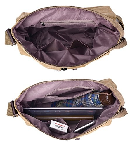 7cc7d8fcb1f8 Tibes Men s Shoulder Messenger Bag Canvas Crossbody Day Bag Work Bag Black  · desc · desc · desc · desc · desc ...
