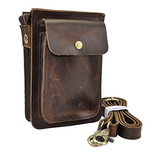 6e1be60756 Dopobo® Mens Waist Belt Bag - Cow Leather Mini Small Fanny Waist Hip ...